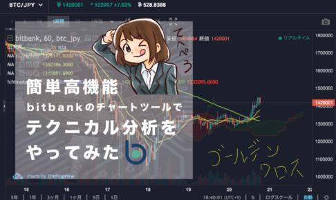 bitbankのチャートツールを紹介サムネイル