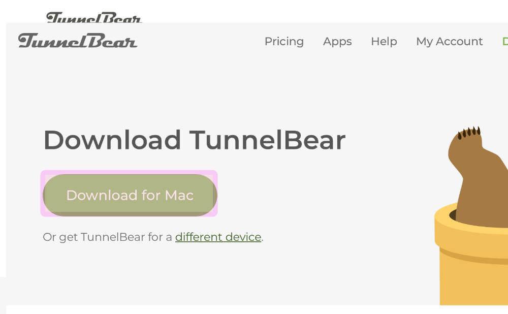 TunnelBear(トンネルベア)でアカウントを登録したらアプリをダウンロードす画像