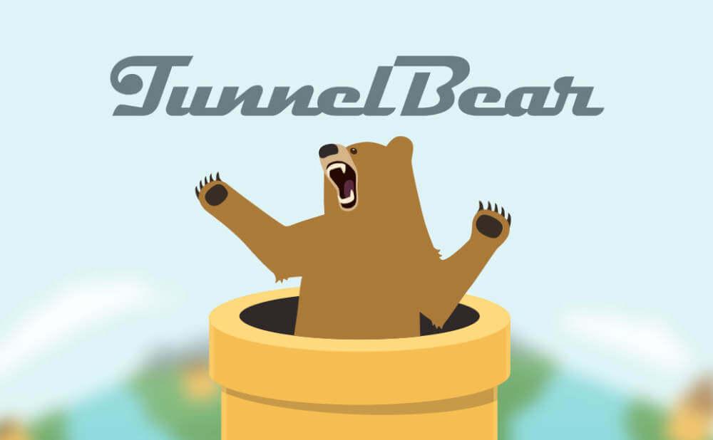使いやすさで評判が高いTunnelbear(トンネルベア)の画像