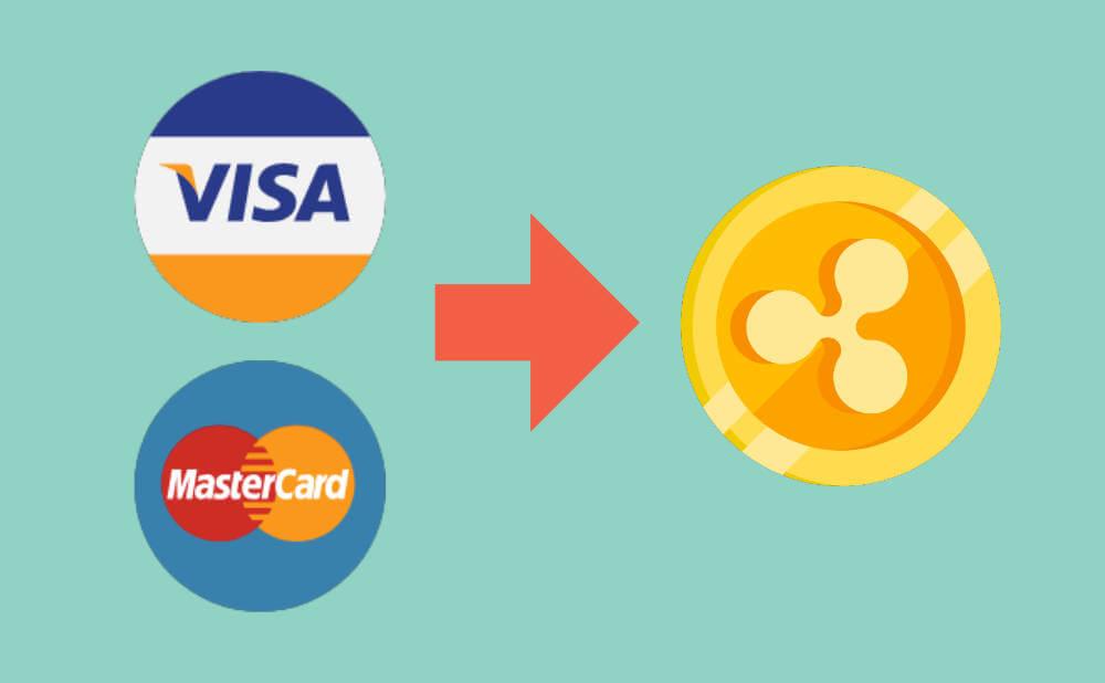 ❹.クレジットカードの決済総額がリップルに置き換えられて上がる