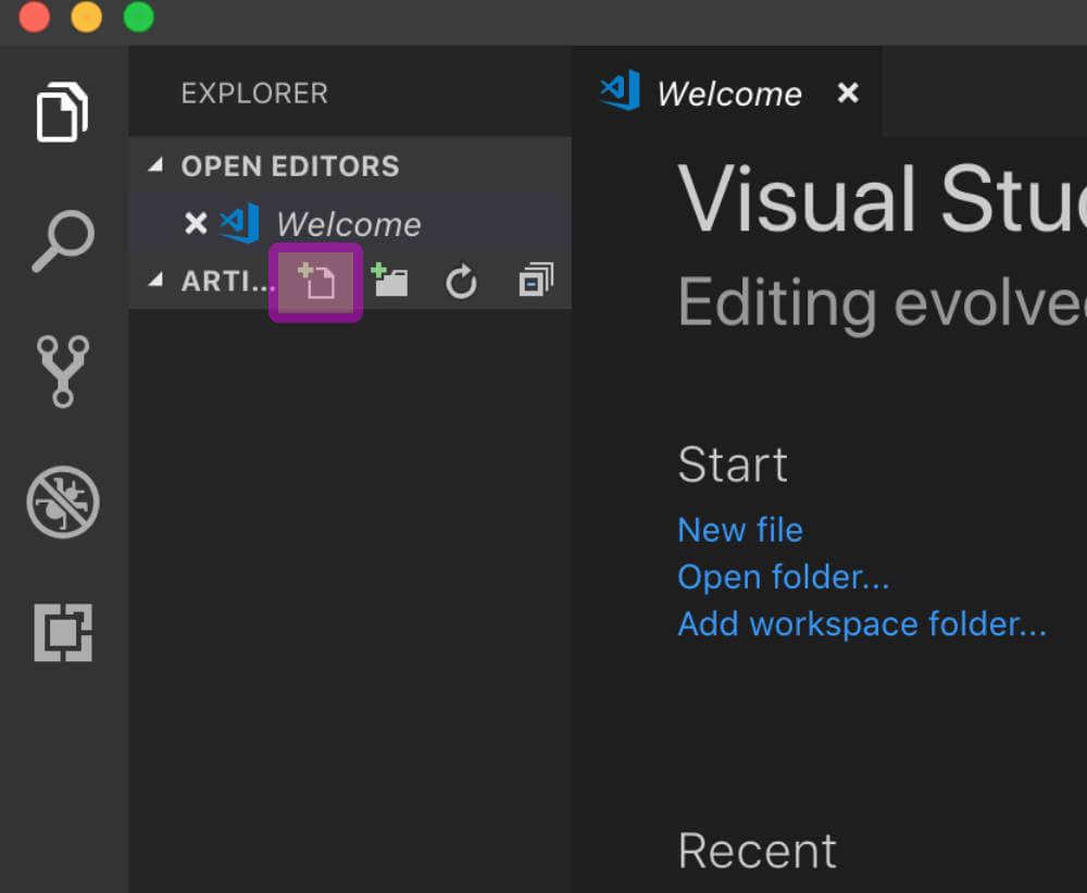 VScodeで新しいファイルを作る