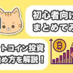 【 保存版 】 ビットコイン投資の始め方を初心者向けにまとめてみた サムネイル