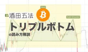 【 酒田五法 】 ビットコインでトリプルボトム(トリプルトップ)の読み方